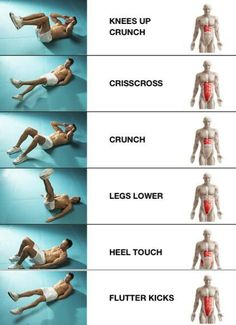 Different ab exercises target different areas