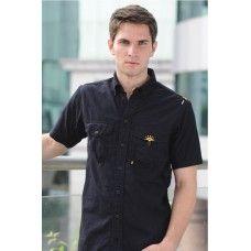 Woven Organic Cotton Short Sleeves Shirt (garment dyed)
