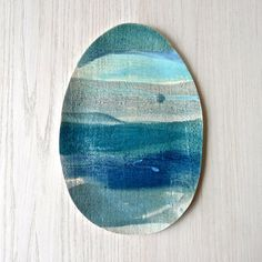 layered sea blue platter #7   Elephant Ceramics
