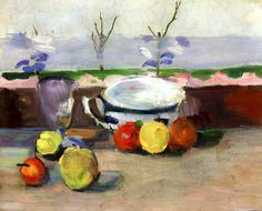 Cup, Glass and Fruit Paul Cezanne - circa 1877