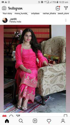 My beautifull model 😍😘 Bridal Suits Punjabi, Designer Punjabi Suits Patiala, Indian Designer Suits, Salwar Suits, Embroidery Suits Punjabi, Embroidery Suits Design, Embroidery Designs, Simple Outfits, Simple Dresses