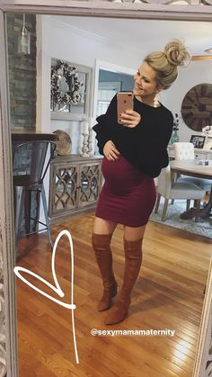 Selfie Sunday with a bump! We love seeing your bumpies. Stay cozy and layer up our Mama Midi Dress with your favorite sweater. This maternity bodycon will be a wordrobe favorite though your whole pregnancy! #SexyMama #maternitystyle #maternitybodycon #bumpie #selfie #selfiesunday