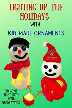 Lighting Up the Holidays With Kid-Made Ornaments #mosswoodconnections #ornaments #kid-made #holidays Kids Make Christmas Ornaments, Christmas Arts And Crafts, Christmas Lanterns, Christmas Goodies, Christmas Decorations To Make, Christmas Holidays, Craft Projects For Kids, Arts And Crafts Projects, Diy For Kids