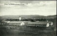 Nord-Trøndelag fylke Verdal kommune VÆRNES. Udsigt fra Soldaterhjemmet, mot sør Fot. Aune Stemplet 1913