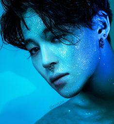"""a concept: Jimin with a septum piercing in a glitter photoshoot Jikook, Bts Jimin, Bts Bangtan Boy, Suga Suga, Bts Taehyung, Serendipity, Namjoon, Photoshoot Bts, Jimin Fanart"
