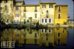 A quiet quay in #Martigues, #France glows in the afternoon sun. The tiny fishing village near #Marseille was visited by Thomas Jefferson during his journey through France. (Photo by Walter Sanders//Time Life Pictures/Getty Images)
