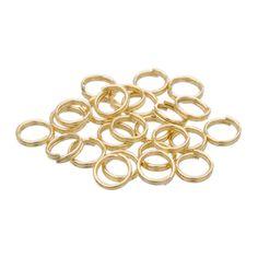 Gold Plated 6mm Split Rings, Bag Of 25