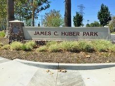 The James C. Huber Park sign in Eastvale, California. #cityofeastvale http://youreastvalerealtor.com/eastvale-parks/