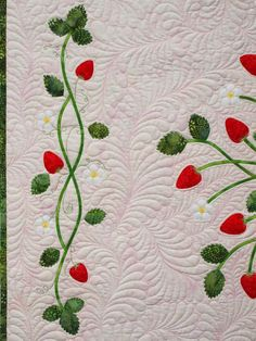 Sampaguita Quilts, curvy feathers