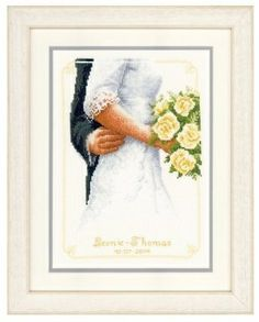 Bridal Bouquet - (KIT) - I found this while browsing JuliesXstitch.com.  This cross stitch kit is perfect for the bride to be.  A wonderful way to commemorate her wedding date.  Hang on the wall with the invitation, and a picture of the wedding party.