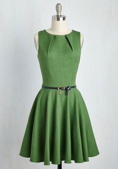 Luck Be a Lady Dress in Fern | Mod Retro Vintage Dresses | ModCloth.com
