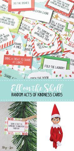 elf on the shelf kindness cards