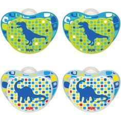 NUK Design Shield Silicone Orthodontic Pacifier, Set of 4, Size 2, Boy Designs