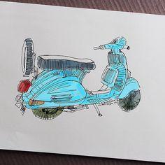 #scooter #sketch #illustration