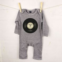 'Totally Awesome Records' Personalised Baby Rompersuit