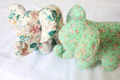 DIY Doudou Éléphant {avec patron} – Les Enchantées Elephant Stuffed Animal, Stuffed Animal Patterns, Baby Couture, Textiles, Backrest Pillow, Piggy Bank, Sewing Patterns, Creations, Baby Shower