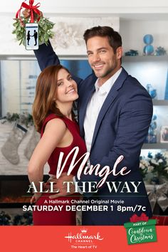 Its a Wonderful Movie - Your Guide to Family and Christmas Movies on TV: Mingle All the Way - a Hallmark Channel Countdown to Christmas Movie starring Jen Lilley, Brant Daugherty and Lindsay Wagner! Hallmark Channel, Películas Hallmark, Films Hallmark, Brant Daugherty, Films D' Halloween, Halloween Movie Night, Halloween 2, Christmas Movies On Tv, Holiday Movies