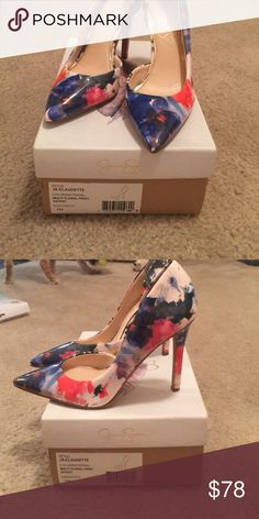 Jessica Simpson. Sexy pumps Description Product Description Sexy high heel pump From the Manufacturer Jessica Simpson is famous for her fun, sexy style, and now her signature line of footwear, handbags, and sunglasses brings that same style home to you. From fun western boots to the latest dressy and casual looks, Jessica Simpson shoes, handbags, and sunglasses are where it's at for fun, flirty and fabulous fashion! Jessica Simpson Shoes