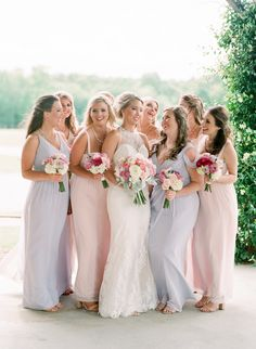Pastel bridesmaids dresses - blush and lavender bridesmaids dresses - Ashley Upchurch Photography Lavender Bridesmaid Dresses, Wedding Dresses, Oklahoma Wedding, Rustic Weddings, Barns, Wedding Events, Celebrities, Photography, Outdoor