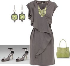 """""""Green/gray"""" by yiannab on Polyvore"""