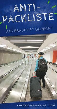 Was du auf deiner nächsten Reise definitiv nicht einpacken musst | Anti-Packliste | Packliste #packen #packliste #reisen #travel