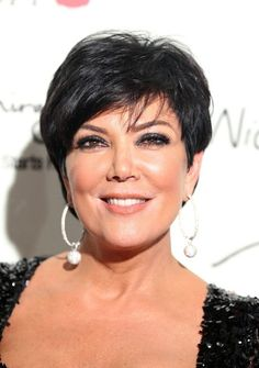 Kris Jenner Side Parted Straight Cut - Short Hairstyles Lookbook - StyleBistro