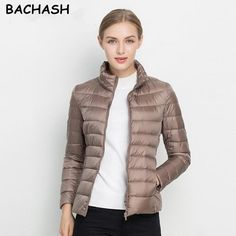 ba7902ef3bc  42.14 - Awesome BACHASH Christmas Gift Solid Color Zipper Women Jacket  2017 New Fashion Autumn Winter
