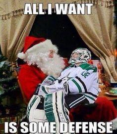 All I want for #Christmas is some defense - Kari Lehtonen, Dallas Stars #hockey LOLOL