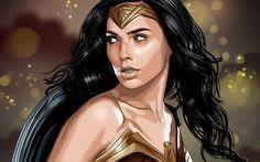 Wonder Woman, 4K, Gal Gadot, art