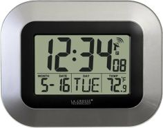 La Crosse Technology WT-8005U-S Atomic Digital Wall Clock with Indoor Temperature, Silver by La Crosse Technology, http://www.amazon.com/dp/B002BDV8DC/ref=cm_sw_r_pi_dp_rCJrrb0F0FV35