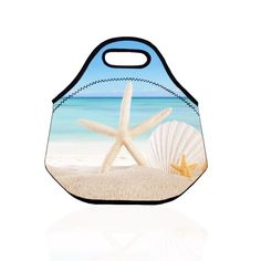 Popeven Neoprene Lunch Bag , High Quality Lunch Tote with Charm Starfish Pattern