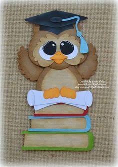 Escuela graduación búho preconfeccionados Scrapbooking adorno