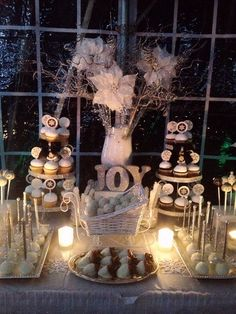 Gorgeous display at a Christmas party! See more party ideas at CatchMyParty.com! #partyideas #christmas