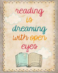 Several free encouraging reading artwork printables reading FREE Reading Artwork! Library Quotes, Book Quotes, Library Posters, Quote Books, Book Sayings, Poster Quotes, Library Art, I Love Reading, Free Reading