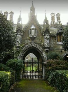 Highgate, London, England Gothic English gatehouse