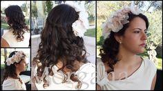 Peinado Novia Morgana Con tocado Art Joana