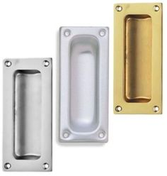Flush Pull Handle 89mm x 43mm Recessed Door Finger Insert Slide Sliding Handle