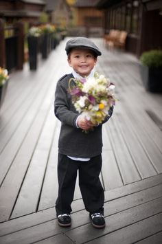 "Bouquet delivery by Brody to his Auntie before she walks down the aisle!!! A ""fall"" could be ""not-so-good"" though!!!"