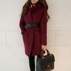 woolen coat marsala burgundy