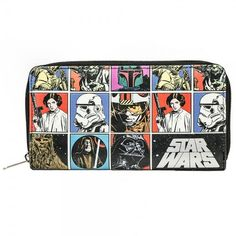 One of our favorite zip around wallets includes this retro Star Wars themed Star Wars wallet.