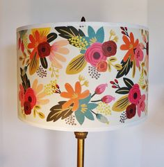 I made this lamp shade with Rifle Paper