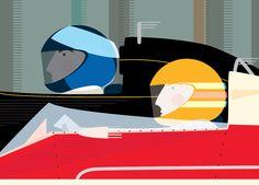 Racing Drivers Illustration