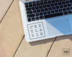 C'est la vie  Laptop Decal  Laptop Sticker  Car by Cutthesheet