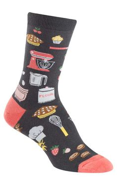 Do a little baker's dance in these extra sweet crew socks for women!