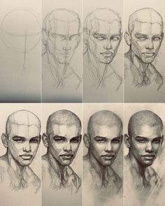 Realistic Face Drawing, Face Drawing Reference, Drawing Process, Art Reference, Portrait Drawing Tips, Portrait Art, Drawing Heads, Painting & Drawing, Angel Wings Art