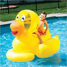 Giant Ducky by Swimline Don't try to fit this Inflatable Pool Toy into the bath tub! The Giant Ducky by Swimline is a large and fun Inflatable Pool Toys, Giant Inflatable, Inflatable Float, Swimming Pool Toys, Pool Floats, Lake Floats, Thing 1, Water Toys, Cool Pools