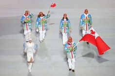 ONGA (2014 WINTER GAMES, Sochi) The Olympic team this country wears a costume jacket palm tree motif white pants.
