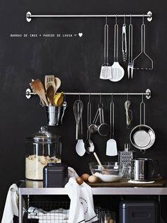 :: cozinhas em preto e branco ::