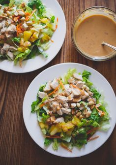 Fantastic Asian Chopped Chicken Salad with grilled chicken, pineapple, peanuts and a great dressing.