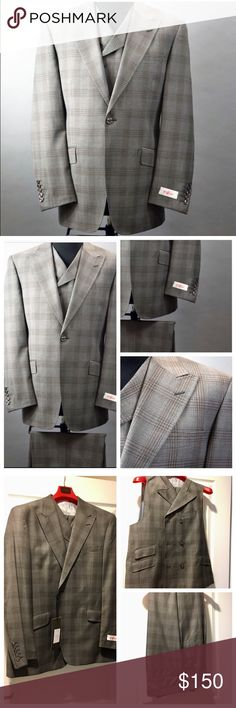 Tiglio Rosso San Giovesse Suit & Vest NWT Tiglio Rosso San Giovesse Collection Suit & Vest RF2654/1   Tiglio Rosso Italian three piece suit. New with Tags - Gray and Brown. The pants have never been hemmed so they'll fit almost any inseam. Tiglio  Suits & Blazers Suits